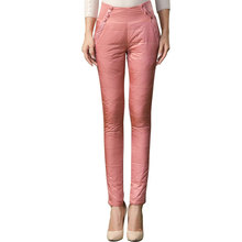 Thick double-sided outer wear down pants female trousers lace Slim  thin thick new winter plus velvet pants women
