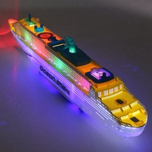 50cm Ocean Liner Ship Light Music Model Flashing Sound Electric Cruises Toys for Children Kids Boat Gift Automatic Steering(China)