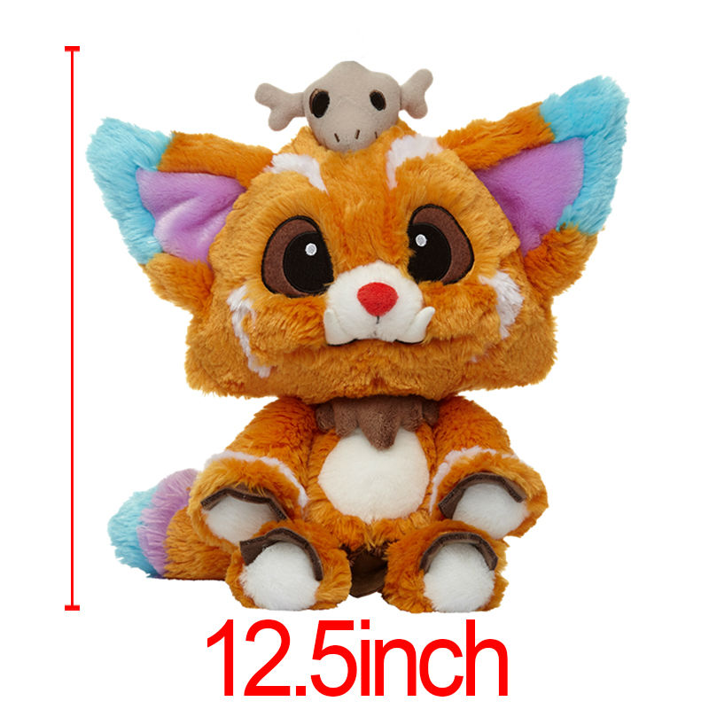1PC 31cm NEW Anime Game Cute Plush Dolls World Championship Gnar The Missing Link Soft Stuffed Toys For Children  Brinquedos<br><br>Aliexpress