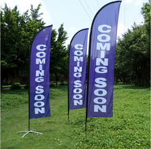 High Quality Beach Flags Banner 360X85cm Feather Flags (printing one side,  other sided in a reverse image)