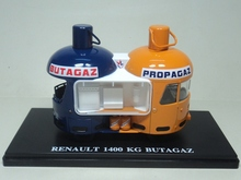 rare 1:43 ixo RENAULT 1400 KG BUTAGAZ advertising vehicle model Alloy car model Collection model