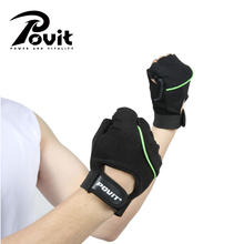 POVIT 1Pair Weightlifting Fitness Gloves Women/Men Gym Glove Crossfit Body Building Dumbbell Exercise Sports Training Gloves(China)
