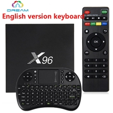 Andriod TV Box X96 Amlogic S905X Quad Core 2.4GHz WiFi HDMI 2.0 with USB 2.0 AV LAN TF Card Slot Smart Media Player Set-top Box