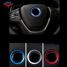 Fashion Car Styling Car Steering Wheel Emblem Decorative Circle Ring Modified 3D Sticker for BMW M3 M5 X1 X3 X5 X6(China)