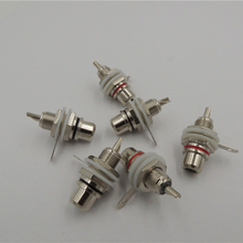 Silver Plated RCA Female Jack Socket Panel Mount Chassis Audio Terminal Connectors for Phono HiFi DIY