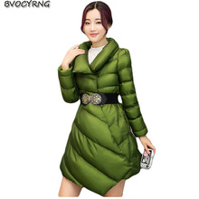 women winter Winter jacket fashion medium long girls jacket outerwear han edition high quality eiderdown cotton warm parka Q796(China)
