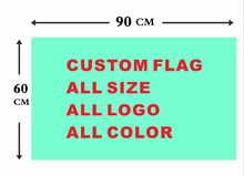 Custom flag 60*90 cm all logo all color royal flag With White Sleeve Metal Gromets(China)