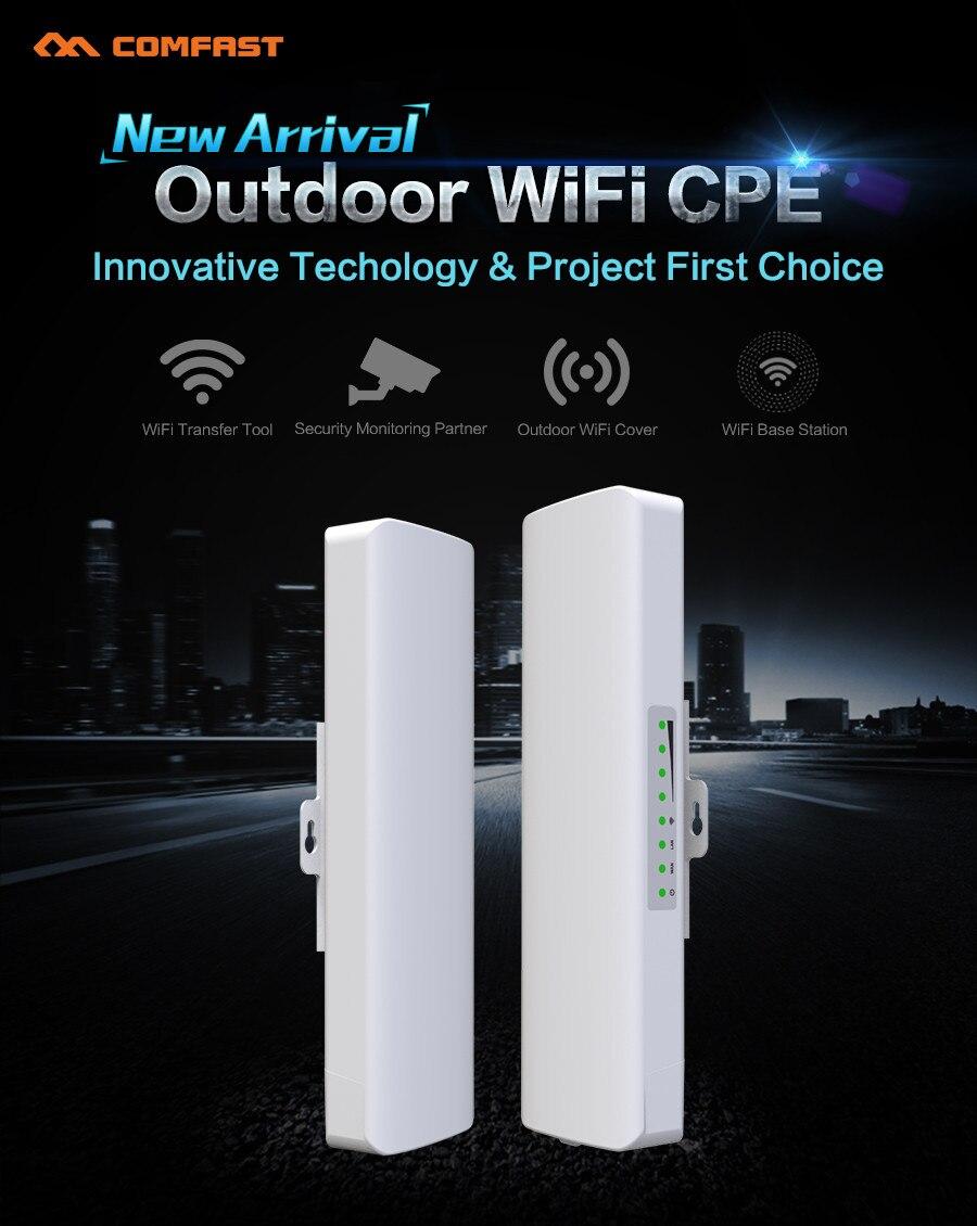 2pcs COMFAST 2.4Ghz Outdoor Wifi Router Receiver 14dBi Wi fi bridge Antenna signal amplifier CPE nanostation Router IP camera <br>