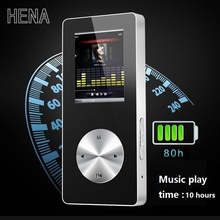 HENA mp4 player bluetooth with loudspeaker all aluminum CNC materail high quality hifi mp4 players 16gb recorder FM TF support(China)