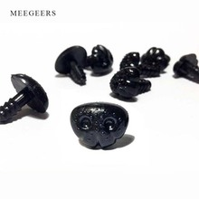 100pcs/bag Black Plastic Safety Noses For Teddy Bear Doll Animal Puppet Crafts Children DIY Doll toys Accessories dog Nose