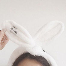 ABC Kawaii Rabbit Ears Hair Band Ladies Girls Head Wrap Headband Cute Bath Spa Headband Make Up