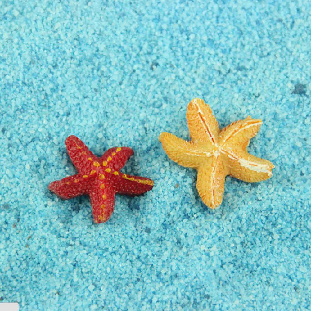 Resin Starfish Fairy Garden Miniatures Starfish Terrarium Figurines Miniature Garden Decoration Miniature Fairy Figurines 1 PCS