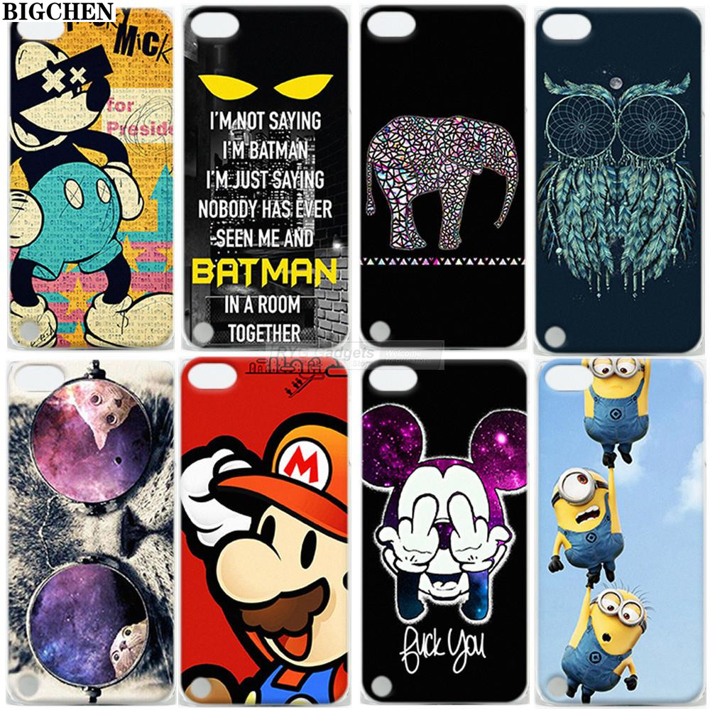 Cute Mickey Minion Design Hard Back Case Cover For iPod Touch 5 5th(China)