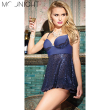 Buy MOONIGHT Baby Dolls Women Sexy Lingerie Backless Sexy Underwear G-string Sleepwear Erotic Lingerie One Size