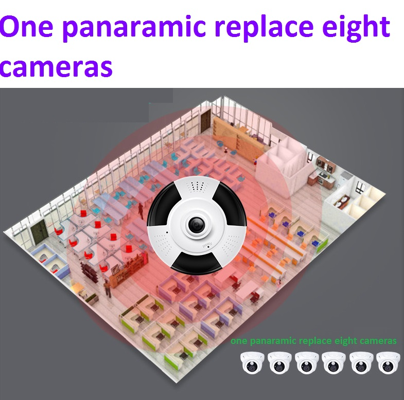 2017 New 960P 3D VR WIFI IP Camera panoramic 360 Degree View Night Vision Mini Wireless Monitor 1.3MP CCTV Security Camera P2P<br>