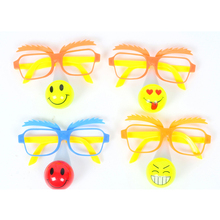 2017 New Baby Shower Decoration 10pcs Led Clown Party Wear Glasses Masquerade Mask Funny Light Up Toys Decoration Saupplies
