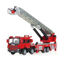 KAIDIWEI Alloy Car Toy 1:50 Die Cast Metal +ABS Fire Truck Model, Scale Tower Ladder Model Kids Toys