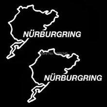Car Styling Nurburgring Race Track Touring Map Stickers white decal For Audi BMW Mercedes Vinyl Decals Laptop stickers on cars