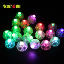 Meaningsfull 100pcs/Lot  Multicolor Mini Led Ball Lamps Balloon Lights With Battery For Paper Lantern Wedding Festival Xmas Deco
