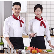 Hot Sale Men's Long Sleeve Chef Uniform Western Restaurant And Cake Baking Jacket Conrast Stand Collar Uniform Clothes CP07(China)