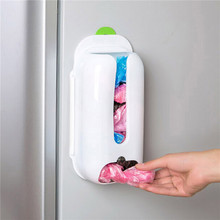 Wall Mount Plastic Bag Dispenser Cabinet Drawer Kitchen Organizer Storage Holder(China)