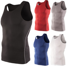 LANBAOSI Men's Compression Vest Performance Underwear Cool Quick Dry Tank Tops Sportswear Basketball Running Sleeveless T-shirts