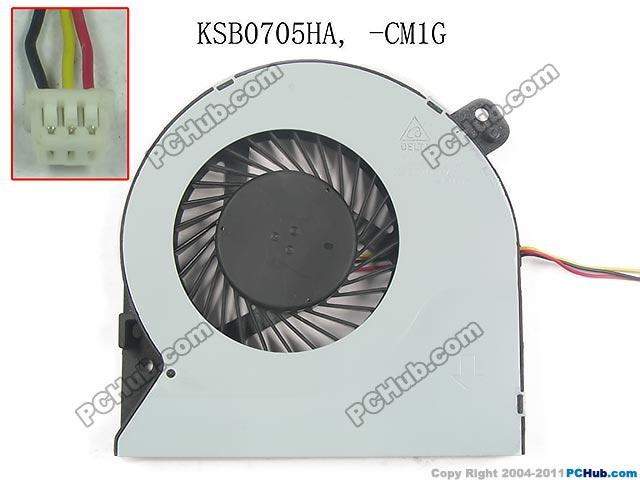 Delta KSB0705HA CM1G DC 5V 0.40A 3 wire Server Bare fan<br>