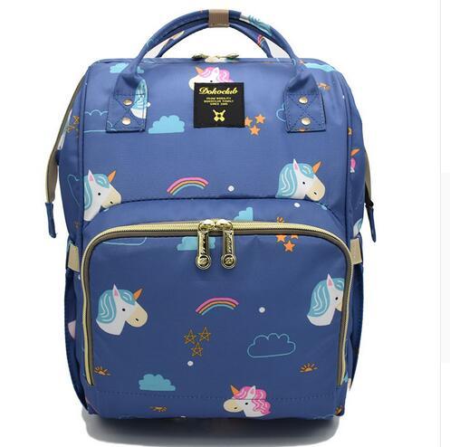 Brand Baby Diaper Bag Mummy Maternity Nappy Bag Large Capacity Unicorn Backpack Nursing Bag Stroller Bag Mochila Maternidade<br>