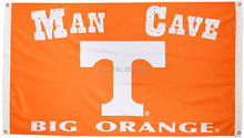 Tennessee Vols Man Cave NCAA Flag 3x5FT banner 100D 150X90CM Polyester brass grommets custom66, Free Shipping(China)