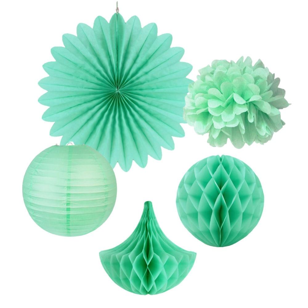 5pc Mint Kit Paper Decoration Tissue Paper Pom Pom...