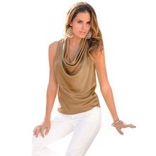 Newest Summer Fashion Sexy Chiffon Blouse Elegant Ladies Solid Tops Casual Sleeveless Women's Shirt XN4 B3