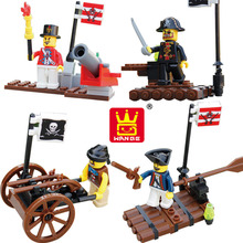 Pirate Series 4Sets/Lot Building Blocks Pirates Paradise Model Assembly DIY Gifts For Children Bricks Compatible With lepin