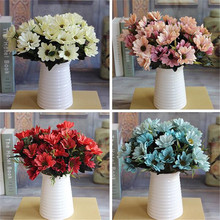French Rose Floral Bouquet Artificial Fake Peony Flower Arrange Table Daisy Wedding Home Decor Party Decoration Silk Flores