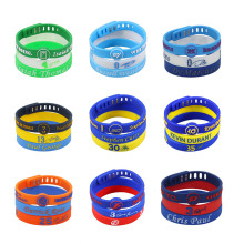 KLEEDER 3Pc/set 20cm Sports jewelry Men's silicone Bracelet special ID signature bangles Adjustable sports wrist band(China)