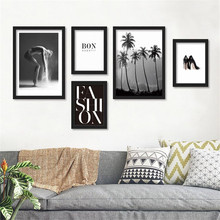 Modern Nordic Fashion Beauty Art Landscape Quote art canvas picture Poster wall decoration for living room no frame PD0436