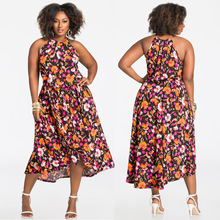 e8b542e6d541 2017 Indian Sari Dresses Qj5200 Amazon Standard European And American  Oversized Women s Sexy Digital Print Suspenders