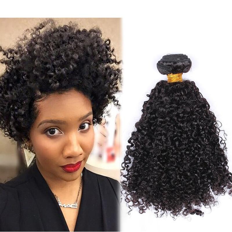 3B 3C Kinky Curly Virgin Hair Weave Bundles Malaysian Virgin Hair Natural Curly Human Hair Extensions Kinky Curly Weaving Hair<br><br>Aliexpress