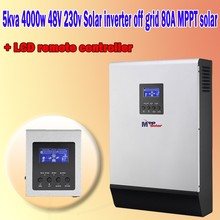 5KVA 4000w 48v 230v hybrid solar inverter 80A MPPT solar charger with a Remote controller(Taiwan)