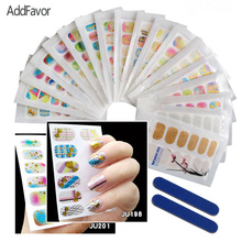 AddFavor Nail Polish Sticker Decoration Tool Metallic Stamp 3D Bling Art Nail Decal Makeup File Gilding Glitter Nail Stickers(China)