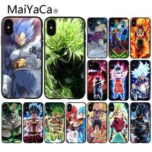Роскошный Уникальный чехол для телефона MaiYaCa Dragon Ball Saiyan Goku Vegetto Broly для iPhone 6S 6plus 7 7plus 8 8Plus X Xs MAX 5 5S XR(Китай)