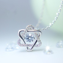 Silver Crystal David Star Same Version Necklaces Pendant Star Silver Color High Quality Jewelry for Women Party Wedding(China)