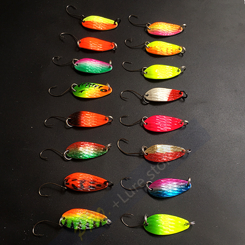 10pcs 3g fishing tackle bait fishing metal spoon lure bait trout bass spoons,small hard sequins spinner spoon Free