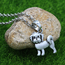 Cute Puppy Teddy Bears necklace dog charm animal women necklace beagle necklace pet lover Gift(China)