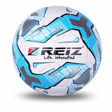 Official Size 5 Standard PU Soccer Ball Training Football Balls Indoor&Outdoor With Gift Net Needle Blue Green Orange(China)