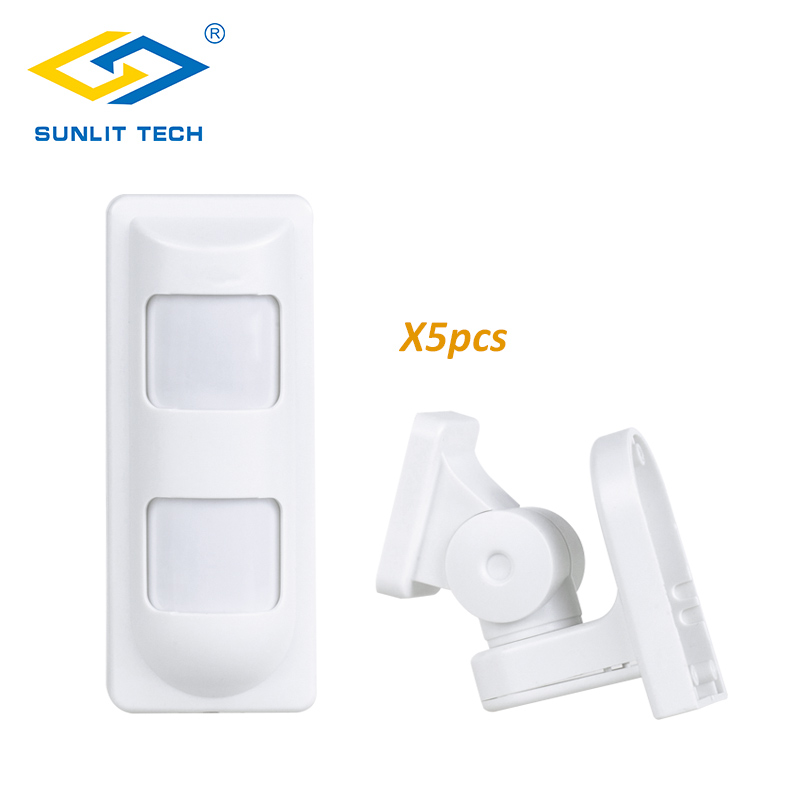 5pcs Tri-tech Outdoor Pet Motion Sensor Wired Alarm PIR Anti Masking Alarm Output Normal Closed, for Wired Home Intruder Alarm<br>