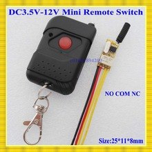 Ultra Small Relay Contact Remote Switch DC 3.5V-12V 3.7V 4.5V 5V 6V 7.4V 9V 12V 1A Relay Wireless Switch Smart Home Door Openner(China)