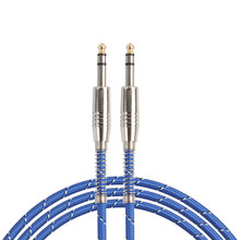 CARPPRIE Factory Price 6.35mm Male To Male Audio Cable For Electric Guitar Mixer Mono/Stereo Via Cable 1M/1.8M/3M/5M/10M Jan18(China)