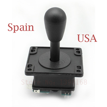 4PCs Spanish Black top Joystick-with 4 Microswitch arcade game machine parts operated as an 8 way American style(China)