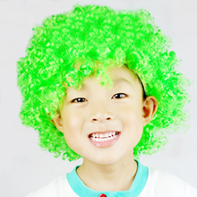 1*Adult Kids Rain Color Wig Clown Decoration Christmas Halloween Party Cosplay Game Xmas Novelty Toys Games Gifts for Children(China)