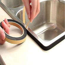 NEW Gas stove slit strip Antifouling Dustproof Waterproof seal Kitchen Black Self-adhesive Door Window Sealing Strip